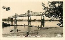 RPPC Postcard Pasco Kennewick Bridge Columbia River Ellis 2858 WA Washington