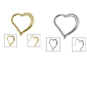 Heart Hinged  Clicker Ring