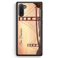 San Francisco Schriftzug Golden Gate Bridge Samsung Galaxy Note 10 Silikon Hü...