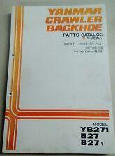 YANMAR Crawler Backhoe Excavator YB271, B27, B27-1 Parts Manual
