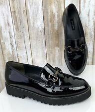 $339 PAUL GREEN Munchen NANDI Loafers Black Patent Leather Shoes UK 3.5 US 6