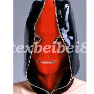 Latex Hood 100% Rubber Classic Style Headgear Double Zipper Unique Size 57-61cm
