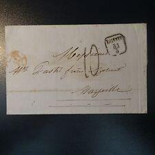 LETTRE COVER DE TRIESTE AUTRICHE 1854 POUR MARSEILLE TAXE 10M