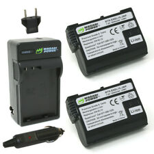Wasabi Power Battery (2-Pack) and Charger for Nikon EN-EL15