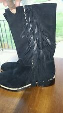 New (sample)VIA SPIGA Charlotte Black Boots Shoes 6M $398 Riding  LAST CHANCE