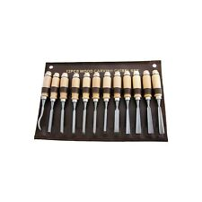 Amtech E0900 Wood Carving Chisel Set 12-piece