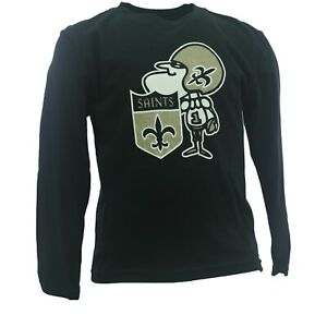 New Orleans Saints Official NFL Apparel Youth Kids Size Long Sleeve Shirt Tags