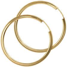 Echter Edelmetall-Ohrschmuck ohne Steine im Creole-Stil aus Gelbgold für Damen