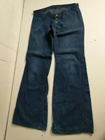 Red Snap Vintage Rockstar Bellbottom Flare Jeans W34 L37