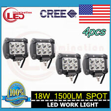 4pcs 4inch 18W LED SPOT CREE WORK LIGHT BAR Driving BOAT UTE DUV TRUCK 300W/240W