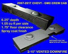FOX ACOUSTICS CHEVY GMC CREW CAB 2007-2017 DUAL 10 INCH VENTED SUB BOX