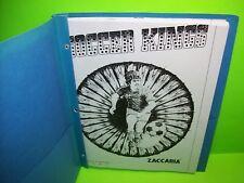 Zaccaria Soccer Kings Pinball Machine 39 Page Service Repair Manual Good Copy