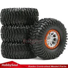 4pcs 2.2 Crawler Tires Tyres Height 125mm & Aluminum 2.2 Bead Lock Up Wheel Rims