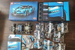 LEGO Technic Bugatti Chiron (42083) partly built bags 7-13 sealed unused sticker