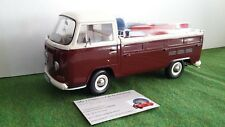 1 18 Schuco VW T2a Pick Up with Soapbox 1967-1970 Darkred/white