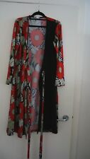 RUNAWAY SIZE M WRAP DRESS RED FLORAL