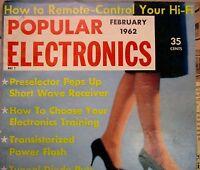 Vintage Popular Electronics Magazine February 1962 Radio TV Advertising