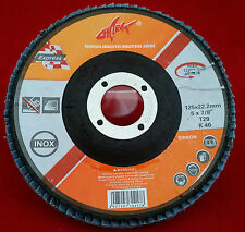 Fächerscheibe 125 mm - T 29 - Korn 40 Zirkonkorund Lamellenscheibe Inox