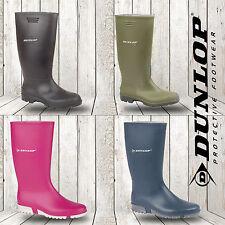 Señoras Botas para hombre Dunlop Wellington Impermeable Lluvia Festival Botas De Agua Caza