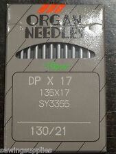 INDUSTRIAL WALKING FOOT MACHINE NEEDLES, 10 NEEDLES SIZE 130/21 ORGAN NO 135X17