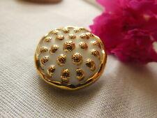 ancien boutons en verre forme framboise blanc doré diamètre 2,1 cm  D10M