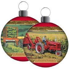 McCormick Farmall Tractor Scene Holiday Ball Ornament