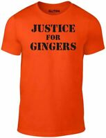 Men's Justice For Gingers T-Shirt - GIFT JOKE FUNNY HAIR PRESENT BLONDE