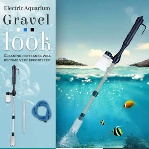 Electric Aquarium Gravel Cleaner Fish Tank Water Changer Sand Washer Automatic