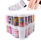 1pc Nail Art Transfer Wrap Foil Galaxy Sticker Glitter Tip Decal Decoration 1-36