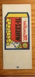 1974 Topps Wacky Packages Tattoos Wheez-IT #2B