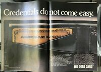 American Express Gold Card Vintage 1982 Print Ad