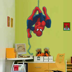Quality Spiderman PVC Wall Decal Stickers Kids Nursery Room Decor Removable