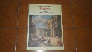 HANDEL HAENDEL IL MESSIA MESSIAH SPARTITO CANTO PIANOFORTE VOCAL SCORE RICORDI