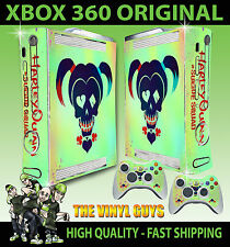 Xbox 360 Original Harley Quinn Suicide Squad Logo Harleen Skin X 2 Pad Stickers