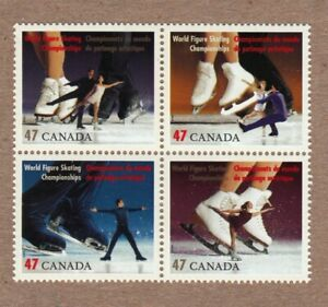 FIGURE SKATING = ICE DANCING = Canada 2001 # 1899a MNH Block of 4