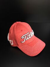 Titleist Golf Deep Back Fitted Hat Cap Red Space Dye L/XL NEW
