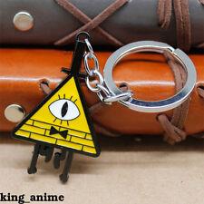 Gravity Falls Bill Cipher BOSS Logo Keychain Key Rings Metal Pendant Gift New