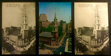 PARK STREET CHURCH BOSTON MASSACHUSETTS POSTCARDS (3)