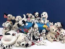 "VTG & Modern LOT 15 Disney 101 Dalmatians Dogs Pups Plush Toys 6"" to 17"" Used"