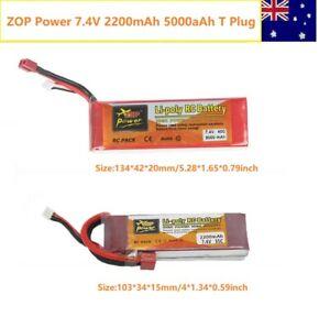 ZOP  7.4V 1500mAh 2200mAh 5000mAh 2S T Plug Lipo Battery For RC Racing Car Drone