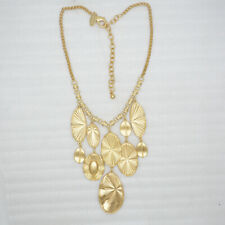 Chico's unique gold tone butterfly wing pendant bib statement cluster necklace