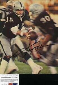 Ken Stabler Psa Dna Coa Autograph 8x10 Raiders Photo  Hand Signed Authentic