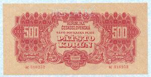 "CZECHOSLOVAKIA 500 Korun 1944 P49s ""NEPLATNE"" Specimen UNC"