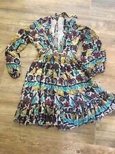 Anthropologie Carolina K Folk Art Folkloric Floral Dress NWOT Xs