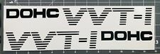 (2) VVTI DOHC car sticker black stripes 12'' x 1.5''