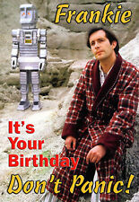 The Hitchhiker's Guide to the Galaxy personalised Happy Birthday tv ART Card
