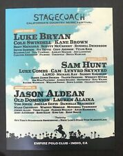 stagecoach 2019 Handbill luke bryan sam hunt jason allena cole swindell