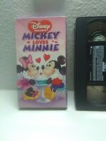 Disney Mickey Loves Minnie (VHS, 1996) HTF Rare Oop