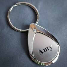 Amy Keychain Keyring Personalized Name Mulberry Studios NEW