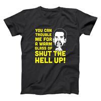 Glass Of Shut The Hell Up  Billy Madison Funny Black Basic Men's T-Shirt